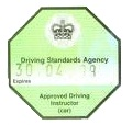 advanced driving instructor badge